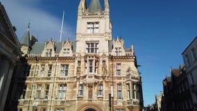 cambridge england Sikter av de historiska byggnaderna av universitetet arkivfilmer