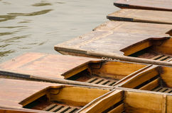 Cambridge, England, wooden boats Stock Photography