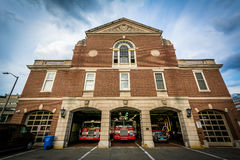Cambridge-Feuerwehr, in Cambridge, Massachusetts lizenzfreie stockfotos