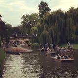 Cambridge flod Fotografering för Bildbyråer