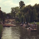 Cambridge-Fluss stockbild