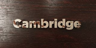 Cambridge - grungy wooden headline on Maple  - 3D rendered royalty free stock image Stock Photo