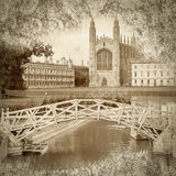 Cambridge i Sepia arkivfoto