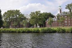 Cambridge, il 30 giugno: Panorama della città di Cambridge dal fiume Charles nello stato di Massachusettes di U.S.A. Immagine Stock