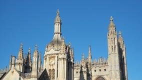 Cambridge, Inglaterra Opiniones College Chapel del rey de la universidad de Cambridge imágenes de archivo libres de regalías