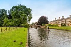 CAMBRIDGE kanał Fotografia Stock