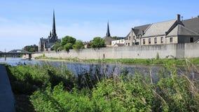 Cambridge, Kanada przy Uroczystą rzeką, timelapse 4K zbiory