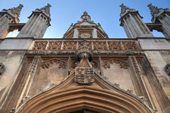 Cambridge, King's college (started in 1446 by Henry VI). Historical buildings Royalty Free Stock Photo