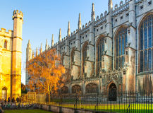 Cambridge, King's college (started in 1446 by Henry VI). Historical buildings Royalty Free Stock Image