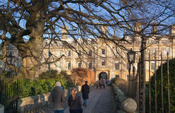 Cambridge, King's college (started in 1446 by Henry VI). Historical buildings Stock Photos