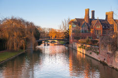 Cambridge, King's college (started in 1446 by Henry VI). Historical buildings Royalty Free Stock Images