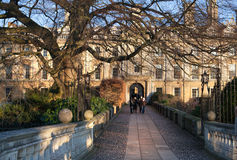 Cambridge, King's college (started in 1446 by Henry VI). Historical buildings Stock Photography