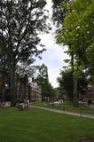 Cambridge mA, el 30 de junio: Yarda del campus de Harvard en el estado de Cambridge Massachusettes de los E.E.U.U. Imagen de archivo libre de regalías