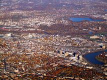Cambridge, MA od samolotu Obraz Stock