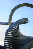 Cambridge metal statue pillar detail Stock Images