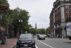 Cambridge miliampère, o 30 de junho: Opinião da rua do estado de Cambridge Massachusettes de EUA Foto de Stock