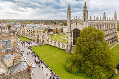 Cambridge na mola Imagem de Stock Royalty Free