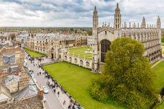 Cambridge na mola Imagem de Stock Royalty Free