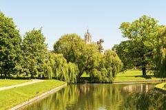 Cambridge ogród Zdjęcie Royalty Free