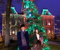 Cambridge Ohio Christmas Lighting Royalty Free Stock Photo