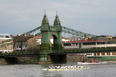 Cambridge and Oxford University in boat racing Stock Image