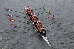 Cambridge Rowing races in the Head of Charles Regatta Women's Championship Eights Stock Images