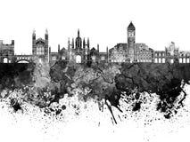 Cambridge skyline in black Royalty Free Stock Image