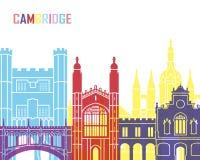 Cambridge skyline pop Royalty Free Stock Photo