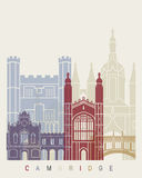 Cambridge skyline poster Stock Image