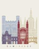 Cambridge-Skylineplakat Stockbild