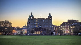 Cambridge-Sonnenuntergang Lizenzfreie Stockfotos