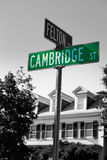 Cambridge street st in Cambridge Massachusetts Stock Images