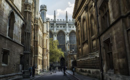 Cambridge street view. One of beautiful streets in Cambridge, England Stock Photos