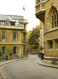 Cambridge Streets. A street view from Cambridge UK Royalty Free Stock Photography