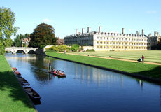 Cambridge-Szene Lizenzfreies Stockfoto