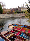 Cambridge Towers and Punts stock photos