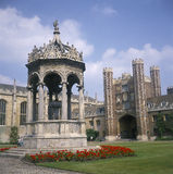 Cambridge: Trinity College. The courtyard of Trinity College, one of the most famous Colleges in Cambridge, England Stock Photo