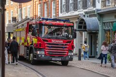 Free Cambridge, UK, August 1, 2019. Fire Appliances Also Known As Fire Engines Or Fire Tenders Used By The Fire Service In The United Stock Image - 199770681