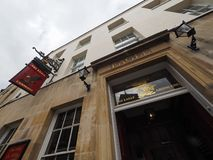 CAMBRIDGE, UK - CIRCA OCTOBER 2018: The Eagle Pub where DNA discovery was announced in 1953 by scientists of the Cavendish stock image