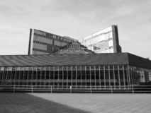 History Library in Cambridge in black and white. CAMBRIDGE, UK - CIRCA OCTOBER 2018: Seeley Historical Library at University of Cambridge designed by sir James royalty free stock photo