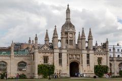 Cambridge universitet England Arkivfoto