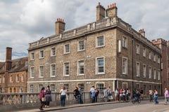 Cambridge universitet England Royaltyfri Foto