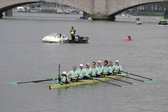 Cambridge university boat team stock photos