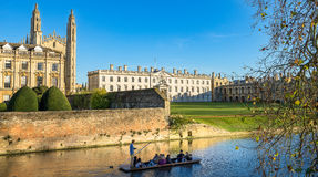 Cambridge University, King`s College from across the river Stock Photography