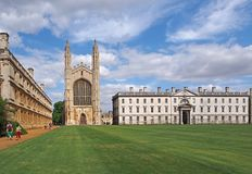 Cambridge University, King's College Royalty Free Stock Photo