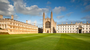 Cambridge University Kings College Royalty Free Stock Images