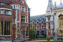 Cambridge university. Pembroke college at dusk in cambridge city centre Royalty Free Stock Images