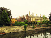 Cambridge University and the river Cam Stock Images