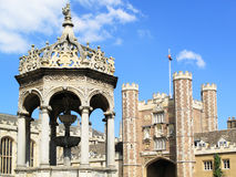 Cambridge University, Trinity College. The College of the Holy and Undivided Trinity commonly known as Trinity College, is the largest of the colleges of Royalty Free Stock Image