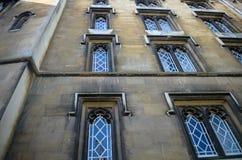cambridge university Widok od rzeczny krzywka obrazy stock